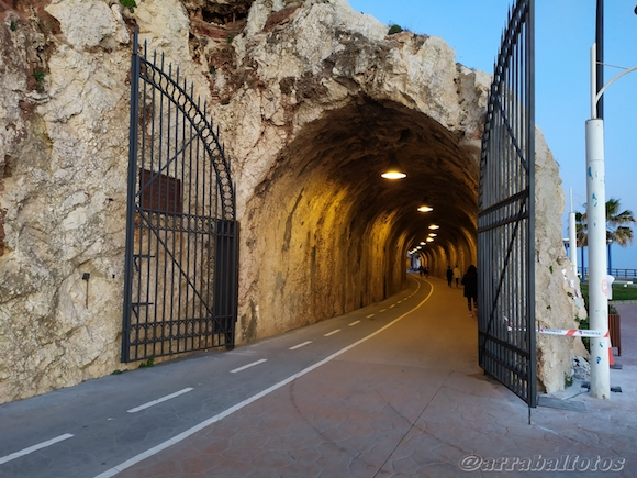 Tunnel between La Cala del Moral and El Rincón de la Victoria, seen from La Cala