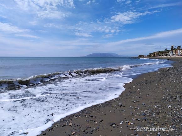 Playa de La Cala del Moral en Rincón de la Victoria, Málaga