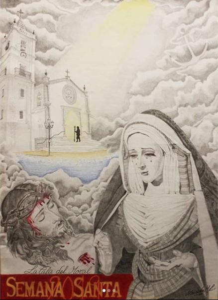 Cartel de la Semana Santa en la Cala del Moral 2019