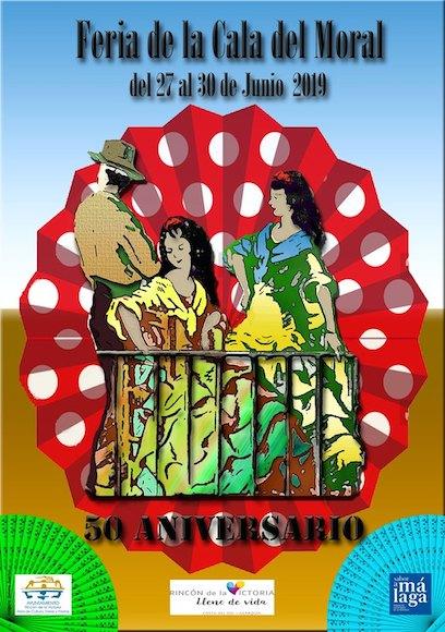 Cartel de la Feria 2019. Un pequeño homenaje al primer cartel de 1.970 (en el año 69 no hubo cartel).